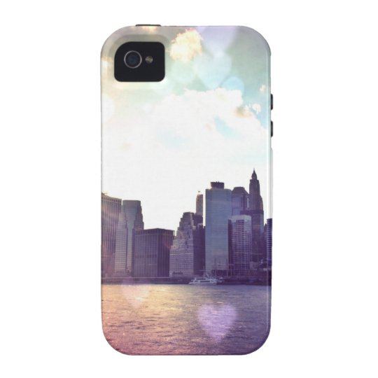 New York Fairy Tale - Rainbow Heart Bokeh Case-Mate iPhone 4 Case