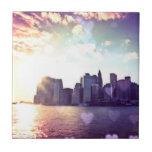 New York Fairy Tale - Rainbow Heart Bokeh Tiles