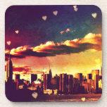 New York Fairy Tale - Skyline Hearts Beverage Coaster