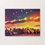 New York Fairy Tale - Skyline Hearts Jigsaw Puzzle