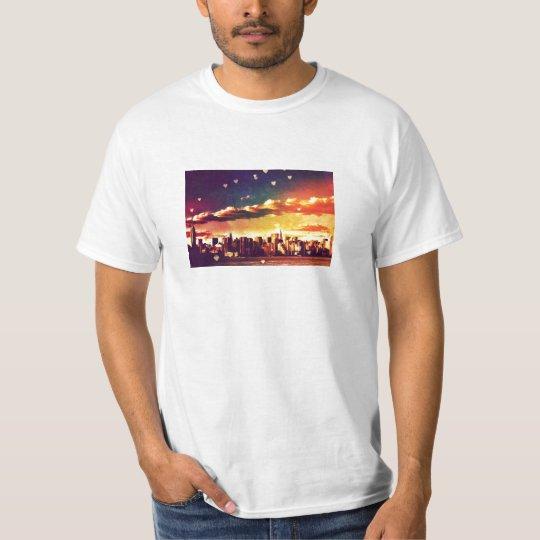 New York Fairy Tale - Skyline Hearts T-Shirt