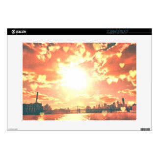 New York Fairy Tale - Soft Hearts Laptop Decals