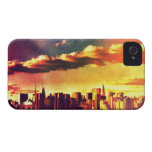 New York Fairytale Skyline - Rainbow iPhone 4 Case