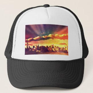 New York Fairytale Skyline - Rainbow Trucker Hat