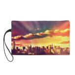 New York Fairytale Skyline - Rainbow Wristlet