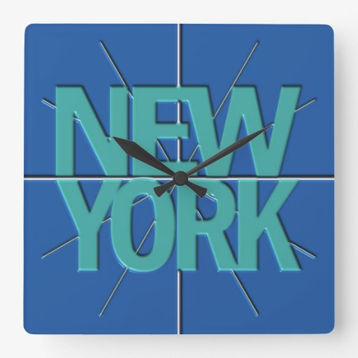 New York Finance Timezone Wall Clock