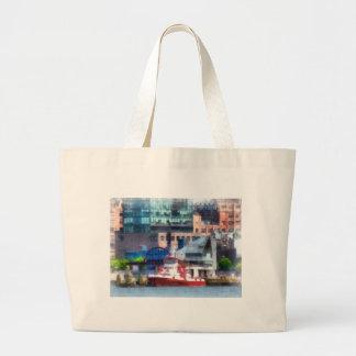 New York Fire Boat Jumbo Tote Bag