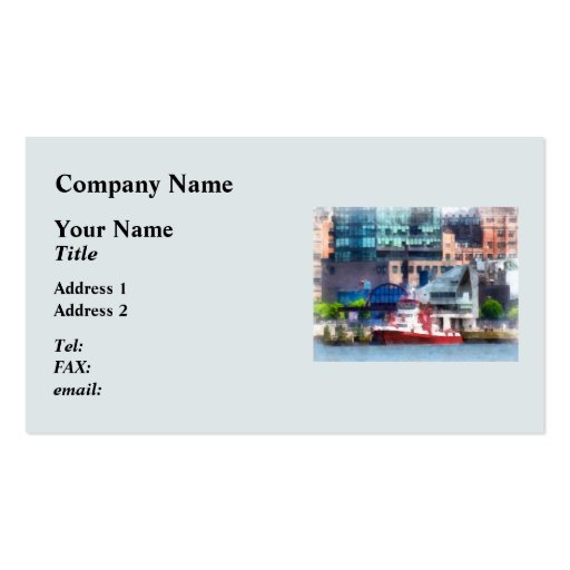 New York Fire Boat Business Card Templates