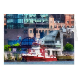 New York Fire Boat Card