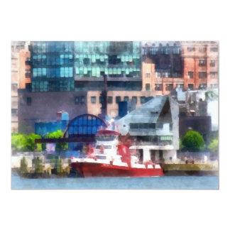 New York Fire Boat 5x7 Paper Invitation Card