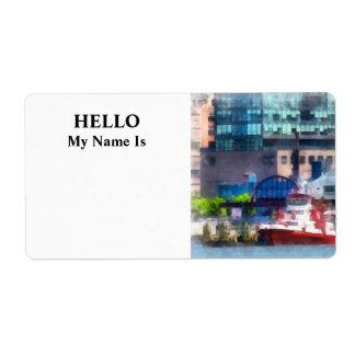 New York Fire Boat Label
