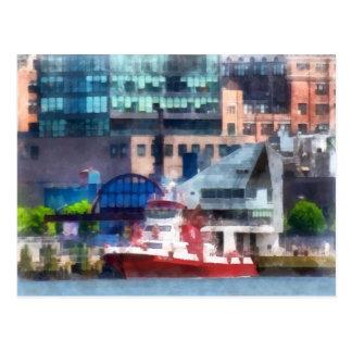 New York Fire Boat Postcard