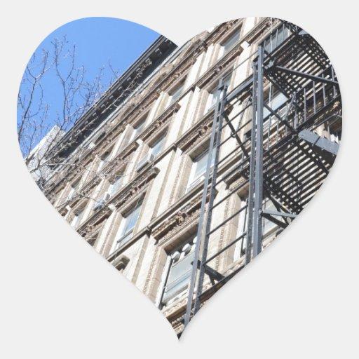 New York Fire Escape Heart Sticker