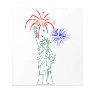 NEW YORK FIREWORKS NOTEPADS