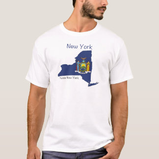 New York Flag and Map T-Shirt