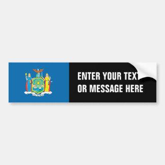 NEW  YORK Flag - Bumper Sticker