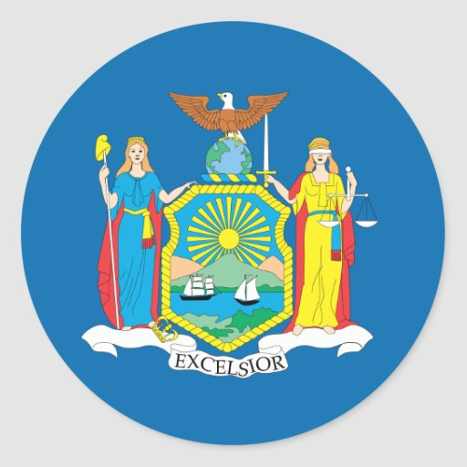 NEW  YORK FLAG CLASSIC ROUND STICKER