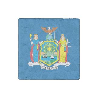 NEW  YORK Flag Design - Stone Magnet