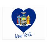 New York Flag Heart Postcards