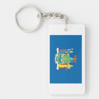 NEW  YORK Flag Double-Sided Rectangular Acrylic Keychain