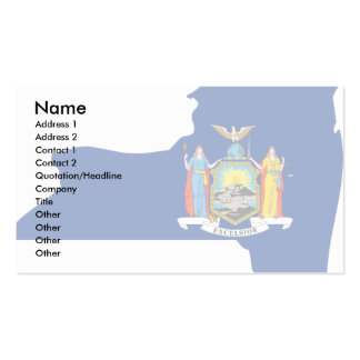 New York Flag Map Double-Sided Standard Business Cards (Pack Of 100)