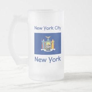 New York Flag Map City Mug