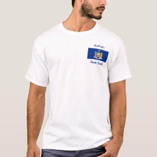 New York Flag Map City T-Shirt