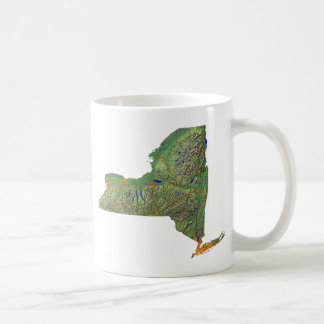 New York Flag + Map Mug