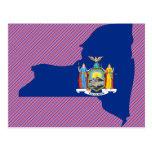 New York Flag Map Postcard