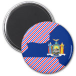 New York Flag Map Refrigerator Magnets
