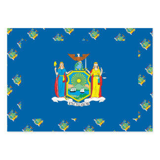 NEW  YORK Flag Pattern Large Business Cards (Pack Of 100)