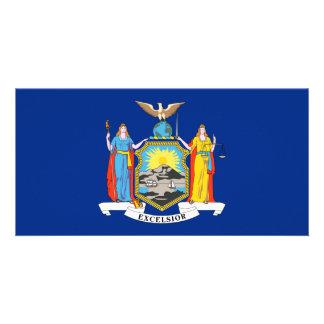 New York Flag Photo Greeting Card