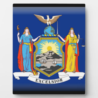 New York Flag Display Plaque
