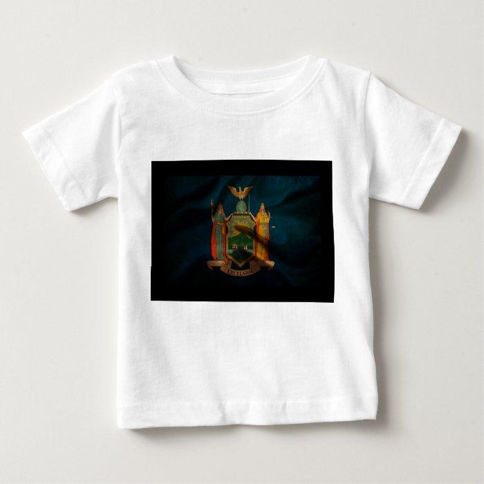 New York Flag Silk Baby T-Shirt