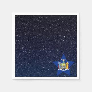 New York Flag Star In Space Standard Cocktail Napkin
