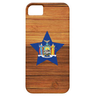 New York Flag Star on Wood iPhone 5 Cases