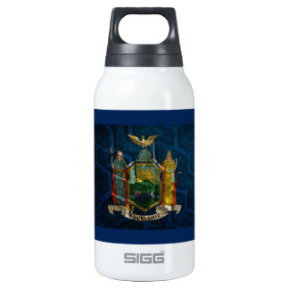 New York Flag State pride Insulated Water Bottle