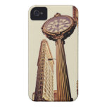 New York - Flatiron Building and Clock iPhone 4 Case-Mate Cases