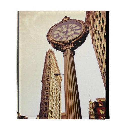 New York - Flatiron Building and Clock iPad Folio Cover