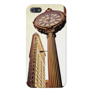 New York - Flatiron Building and Clock iPhone SE/5/5s Cover