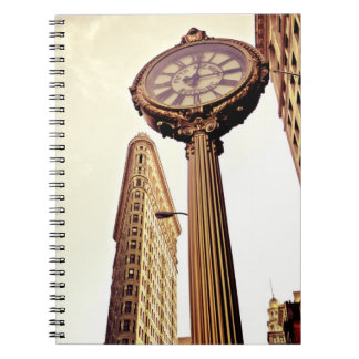 New York - Flatiron Building and Clock Notebook