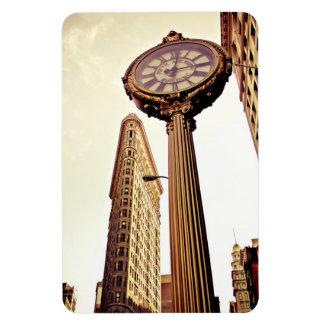 New York - Flatiron Building and Clock Rectangular Photo Magnet