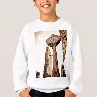 New York - Flatiron Building and Clock Sweatshirt