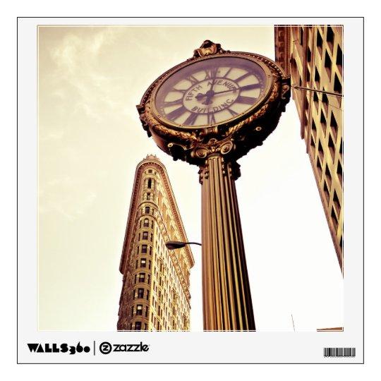 New York - Flatiron Building and Clock Wall Sticker