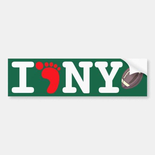 New York Foodball: I Foot NY Car Bumper Sticker