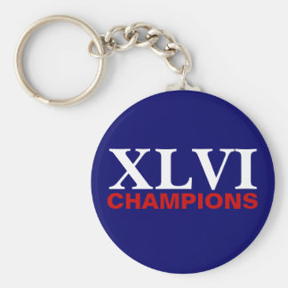 New York Football Champions Basic Round Button Keychain
