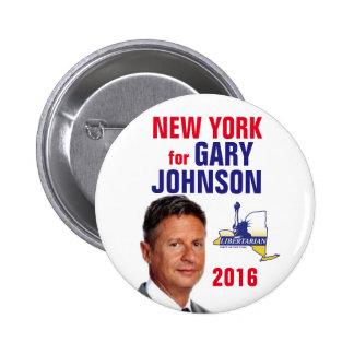 New York for Gary Johnson Button