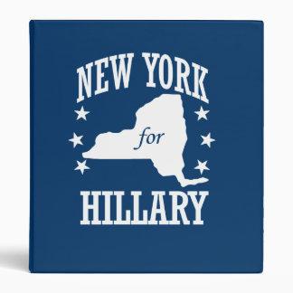 NEW YORK FOR HILLARY 3 RING BINDER