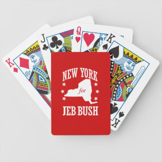 NEW YORK FOR JEB BUSH BICYCLE PLAYING CARDS