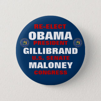 New York for Obama Gillibrand Maloney Pinback Button
